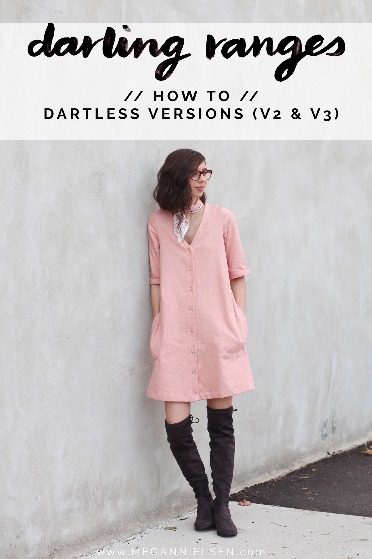 how to make the dartless versions of Darling Ranges pattern // tutorial on Megan Nielsen Design Diary