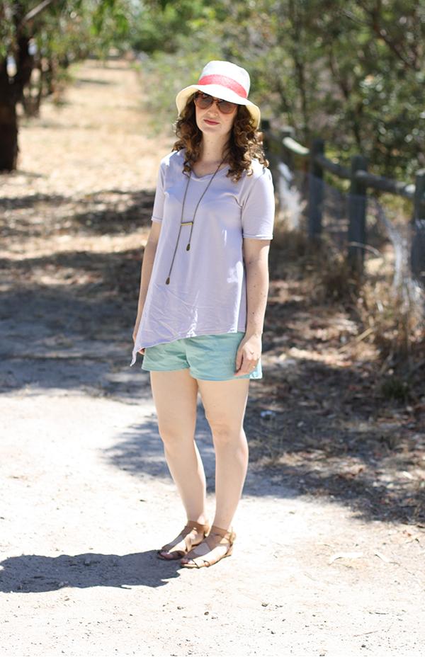 Megan Nielsen asymmetrical maternity top