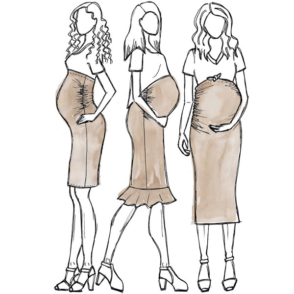 Erin maternity skirt sewing pattern