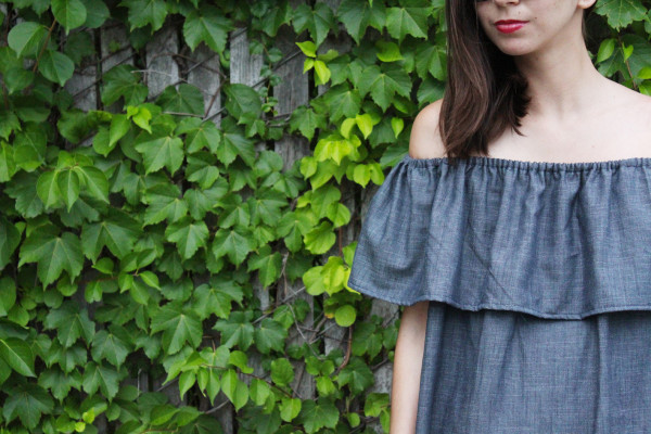 Tutorial How To Make A Ruffle Off The Shoulder Dress