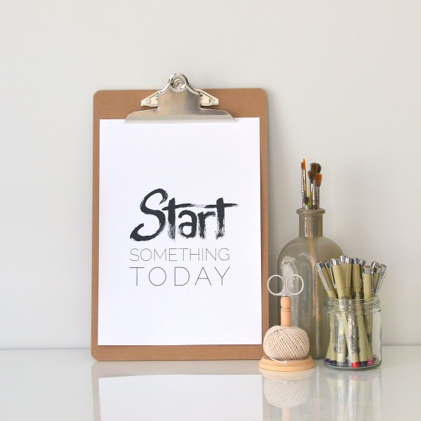 YBcreative typography art prints // START something today