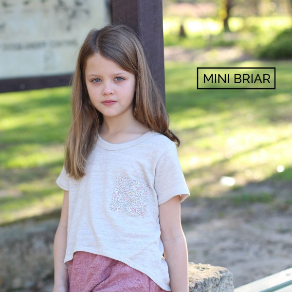 Megan Nielsen Mini Briar sweater and tee sewing pattern / modern, practical and adaptable designs for stylish kids