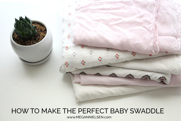 How to make and wrap the perfect baby swaddle // Free tutorial by Megan Nielsen // an easy sew for beginners and a wonderful gift for expecting moms