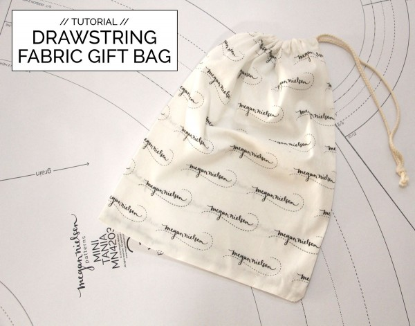 How to make a fabric draw string gift bag // Megan Nielsen patterns FREE tutorial