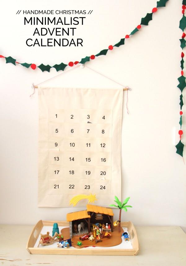 Megan Nielsen's minimalist advent calendar