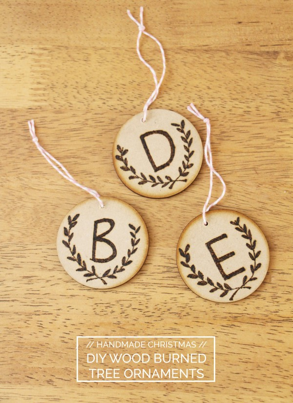 Diy Wood Burned Christmas Ornaments Megan Nielsen Design Diary