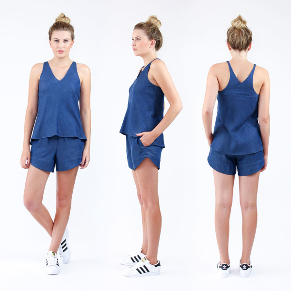 The NEW Reef camisole and shorts set // sewing pattern by Megan Nielsen