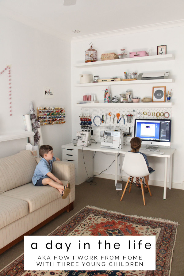 A Day in the Life (AKA how I work from home with three young children) // Pattern Designer Megan Nielsen