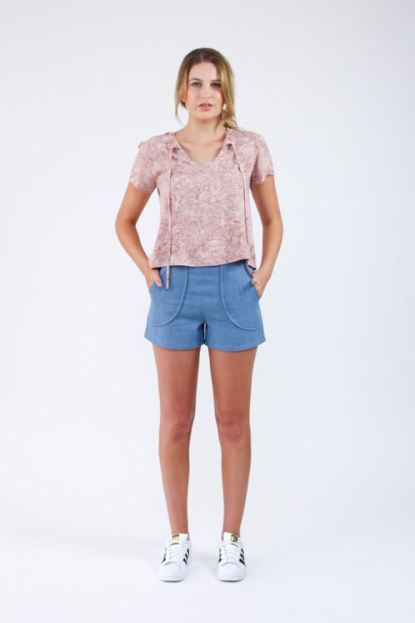 Megan Nielsen Harper shorts sewing pattern