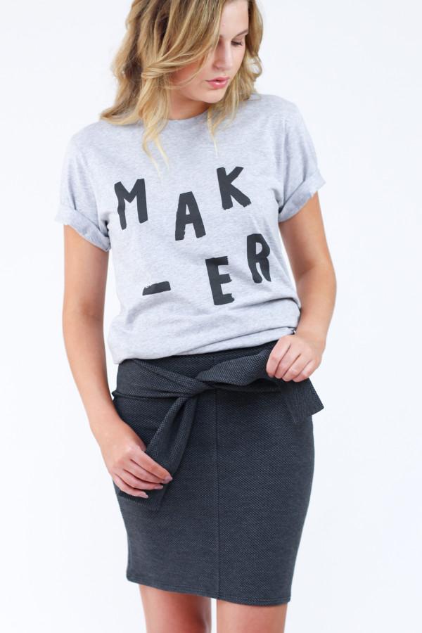 Megan Nielsen unisex Maker tee // Manufactured through Freeset these tees support women fleeing human trafficing