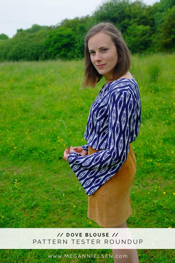 Megan Nielsen Dove blouse sewing pattern tester roundup!