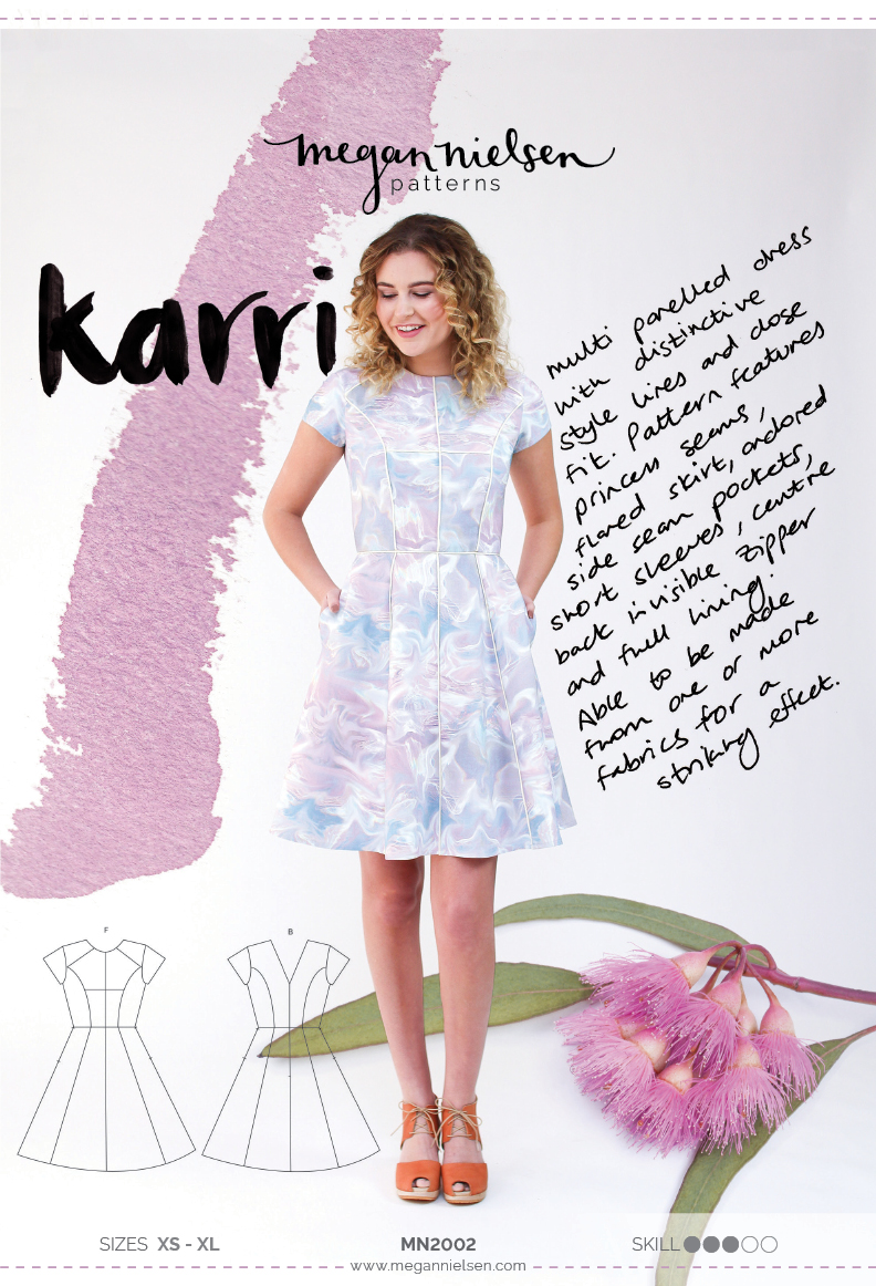 Karri dress sewing pattern envelope