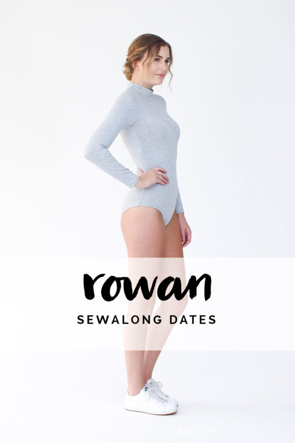 Megan Nielsen Rowan bodysuit and tee sewing pattern sewalong dates!