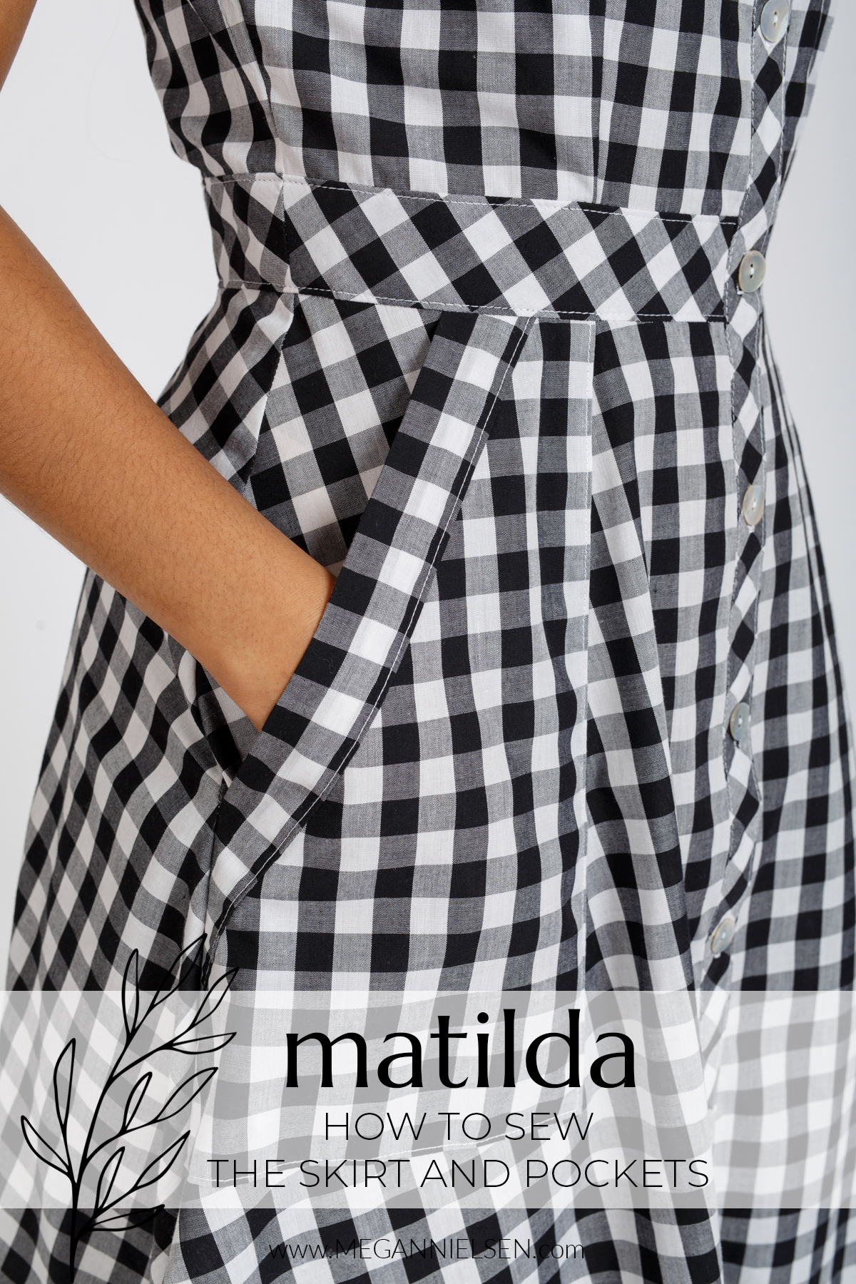 Matilda - How to sew the skirt and pockets