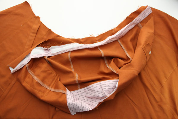 How to sew the waistband and placket // Matilda dress tutorial on Megan Nielsen Design Diary