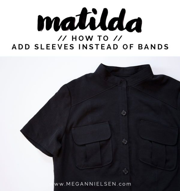How to adjust your pattern to add sleeves instead of bands // Matilda dress tutorial on Megan Nielsen Design Diary