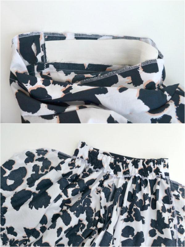 Elastic Waist Back + Side Seam Pockets // A Tania Culottes Tutorial