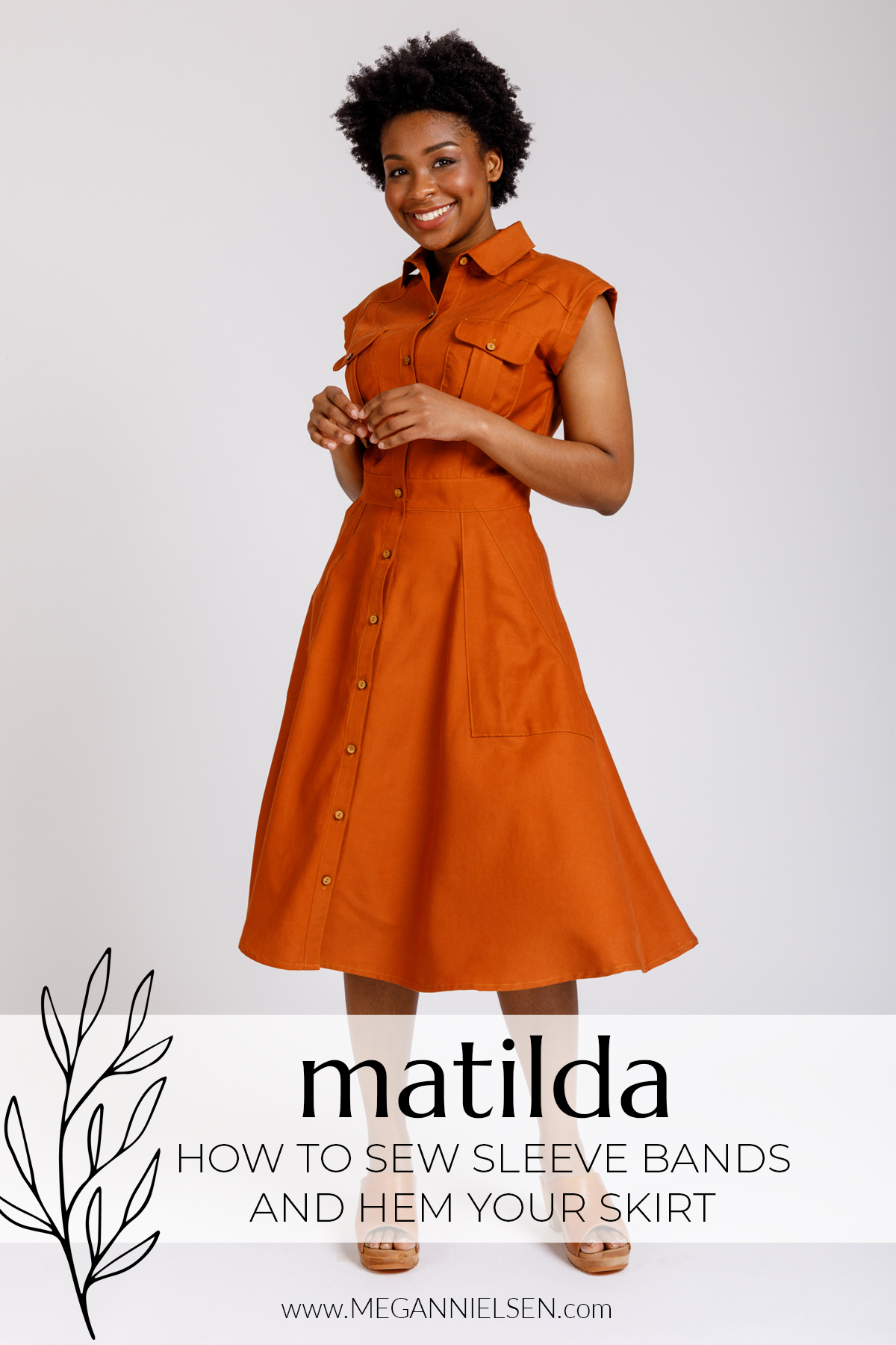 Matilda - How to sew sleeve bands and hem your skirt