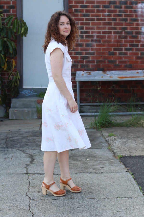Matilda dress made from a vintage sheet // Megan Nielsen Design Diary