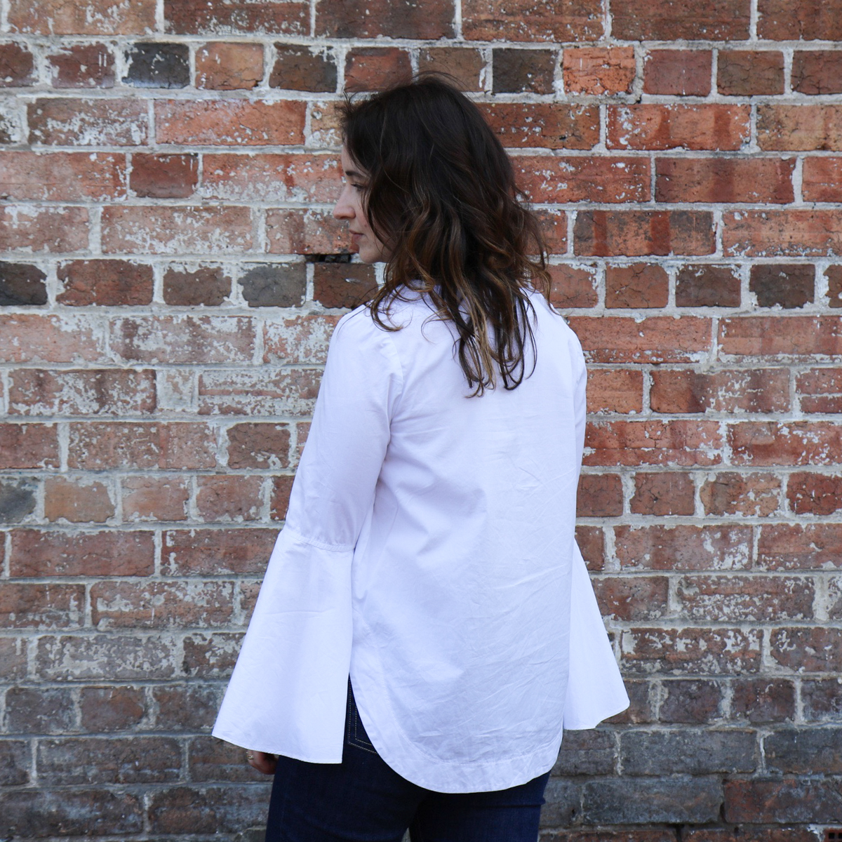 Megan Nielsen Dove blouse in crisp white shirting