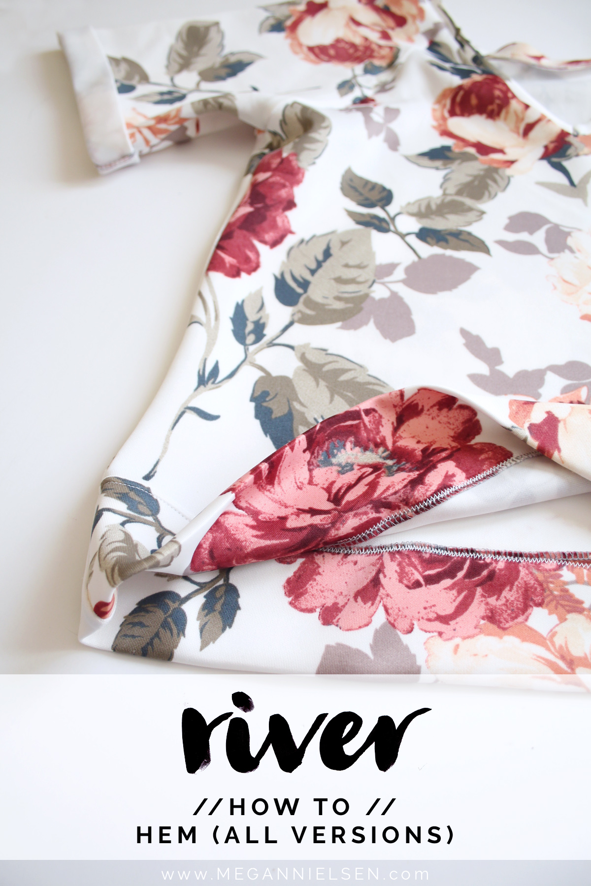 how to hem the River pattern // tutorial on Megan Nielsen Design Diary