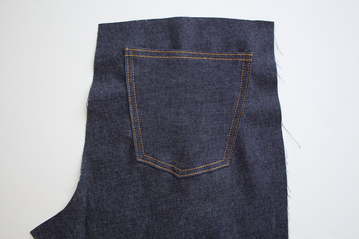 how to sew the back pockets, yoke, and back seam on the Ash jeans pattern // tutorial on Megan Nielsen Design Diary