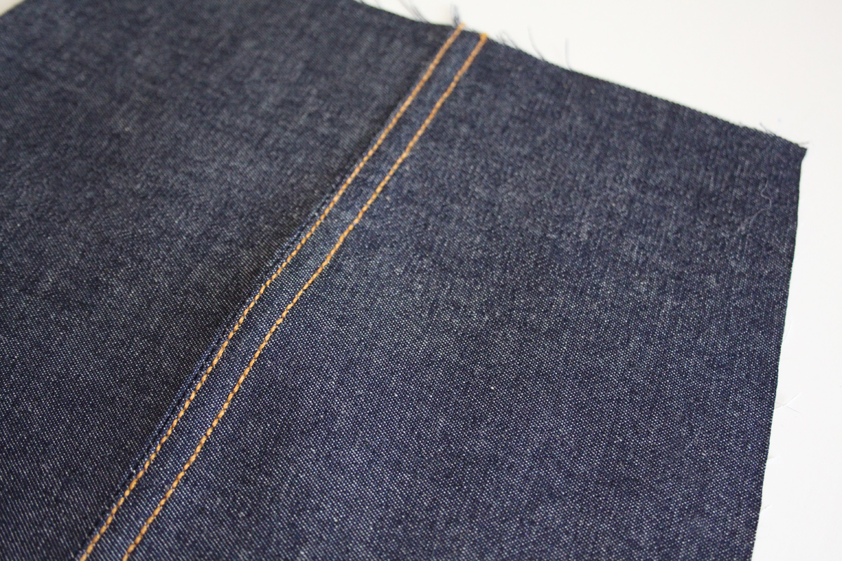 how to sew a flat-felled seam on the Ash jeans pattern // tutorial on Megan Nielsen Design Diary