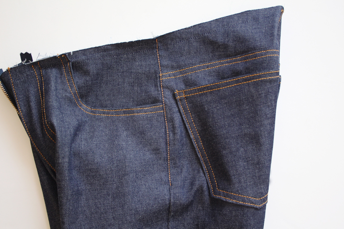 how to sew inseam and side seams on the Ash jeans pattern // tutorial on Megan Nielsen Design Diary