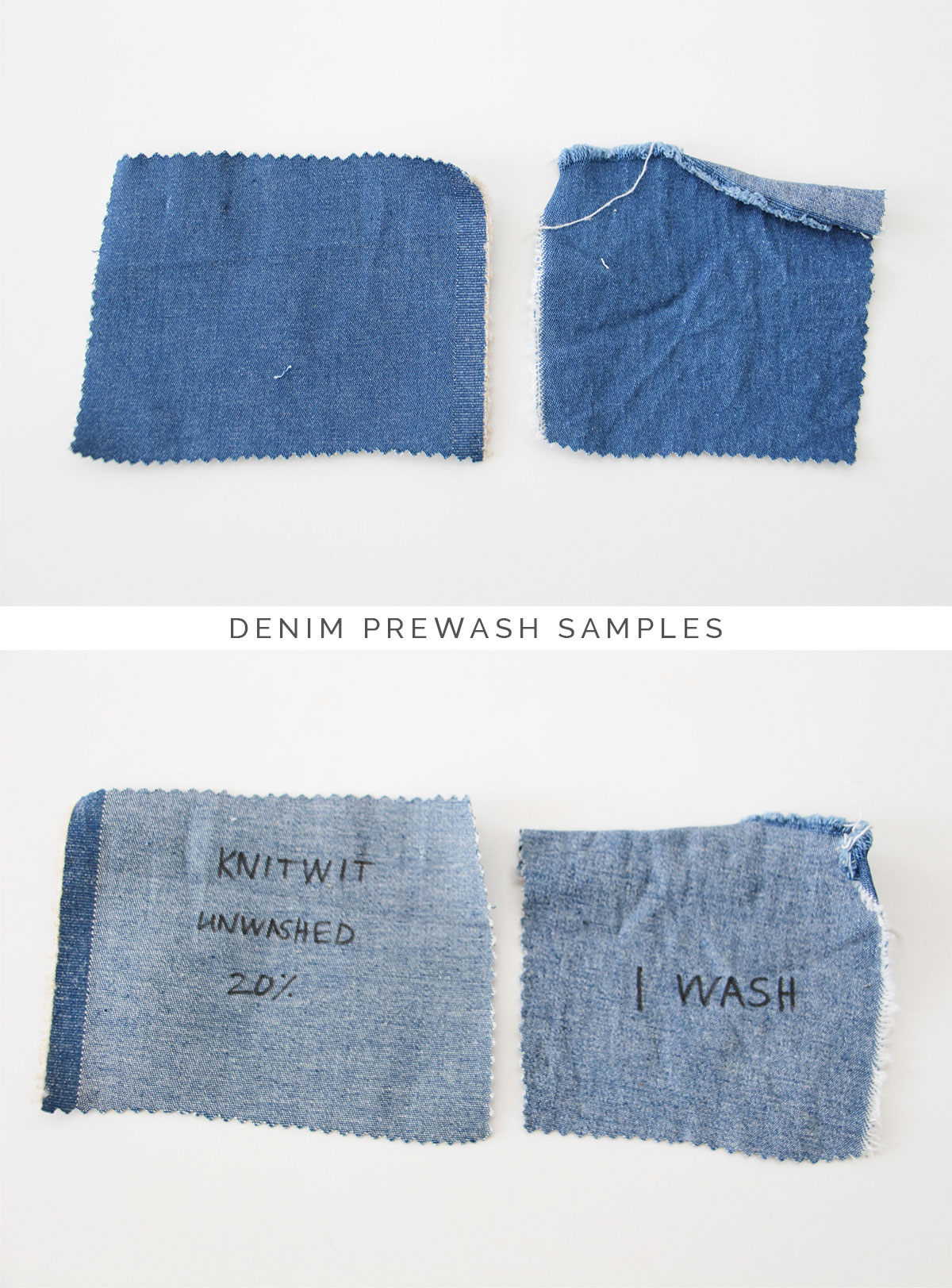 How to distress and fade denim, tutorial on Megan Nielsen Design Diary