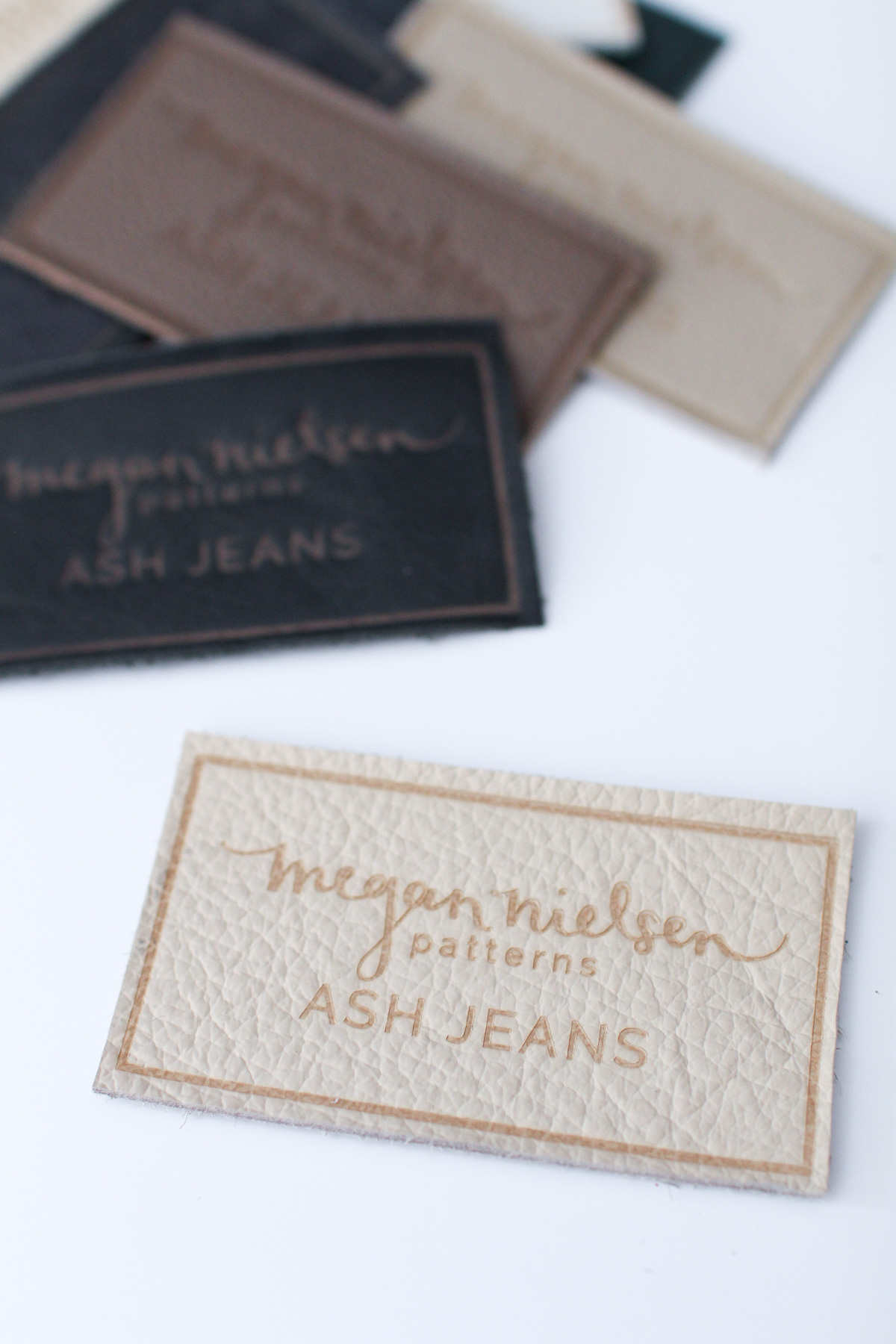 Megan Nielsen jeans notions! Kits, leather patches, rivet anvils: everything you need to make a professional looking handmade pair of jeans