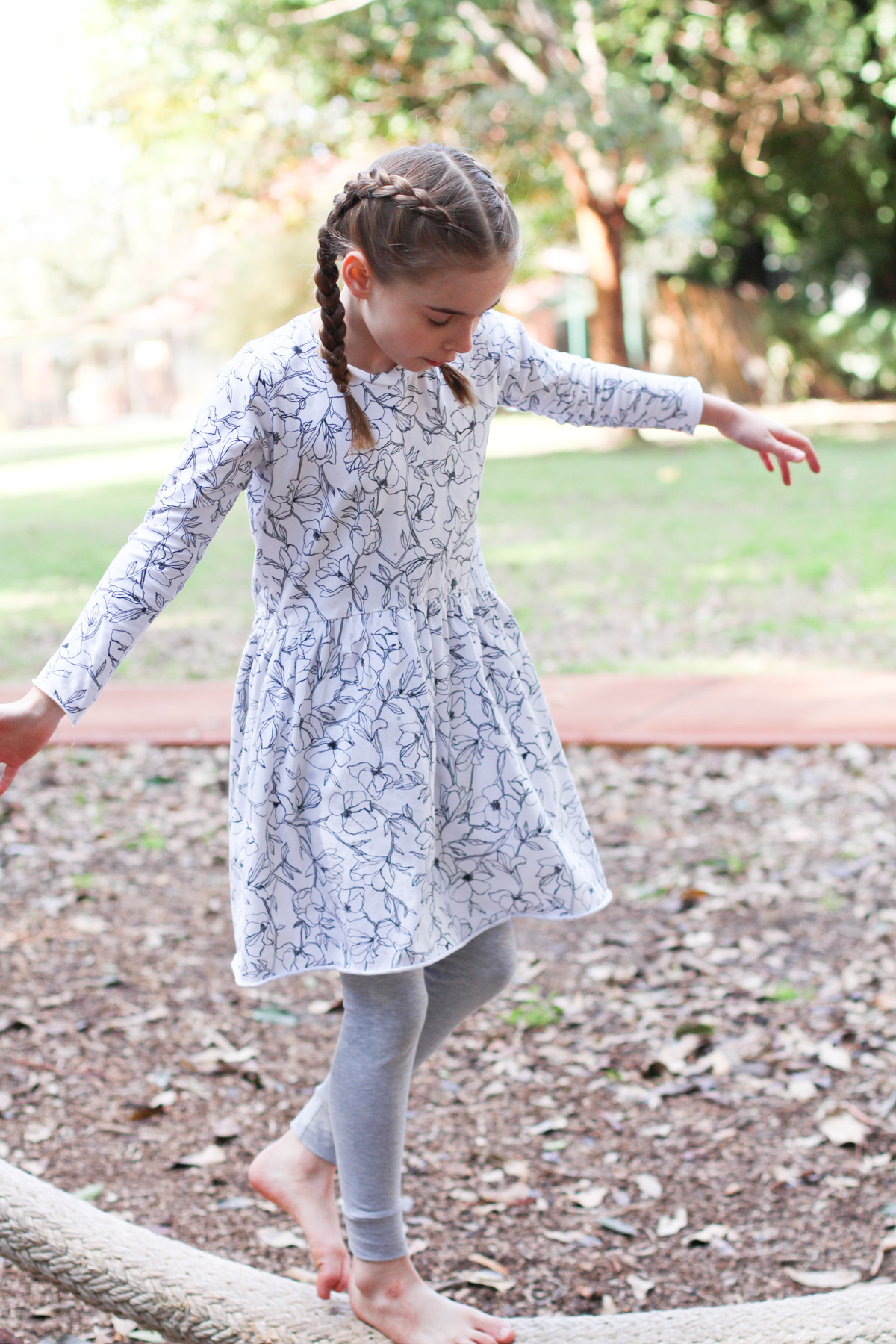Bunny's floral Mini Briar dress hack + Mini Virginia leggings