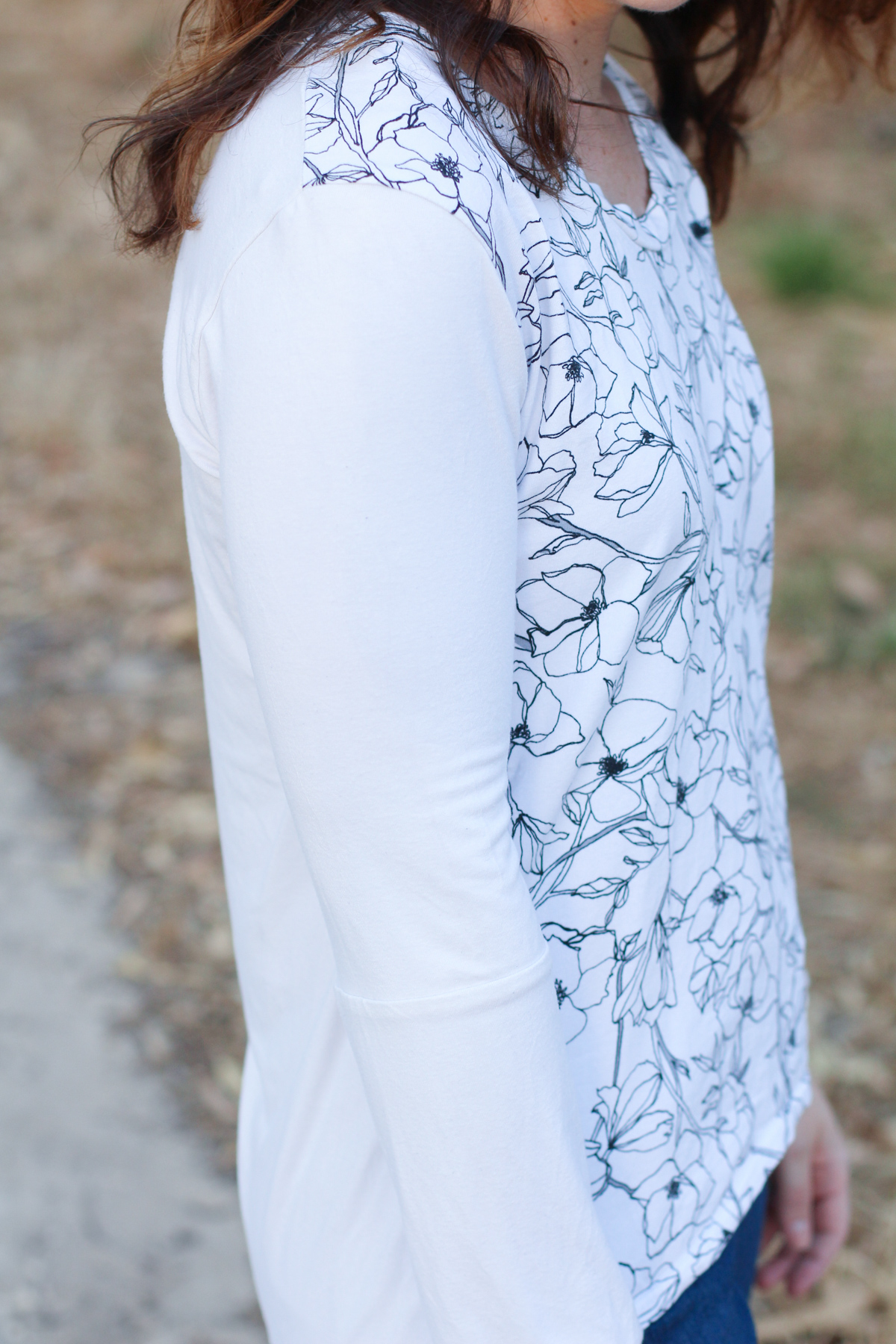 The Briar tee made from leftover fabric // Megan Nielsen Design Diary