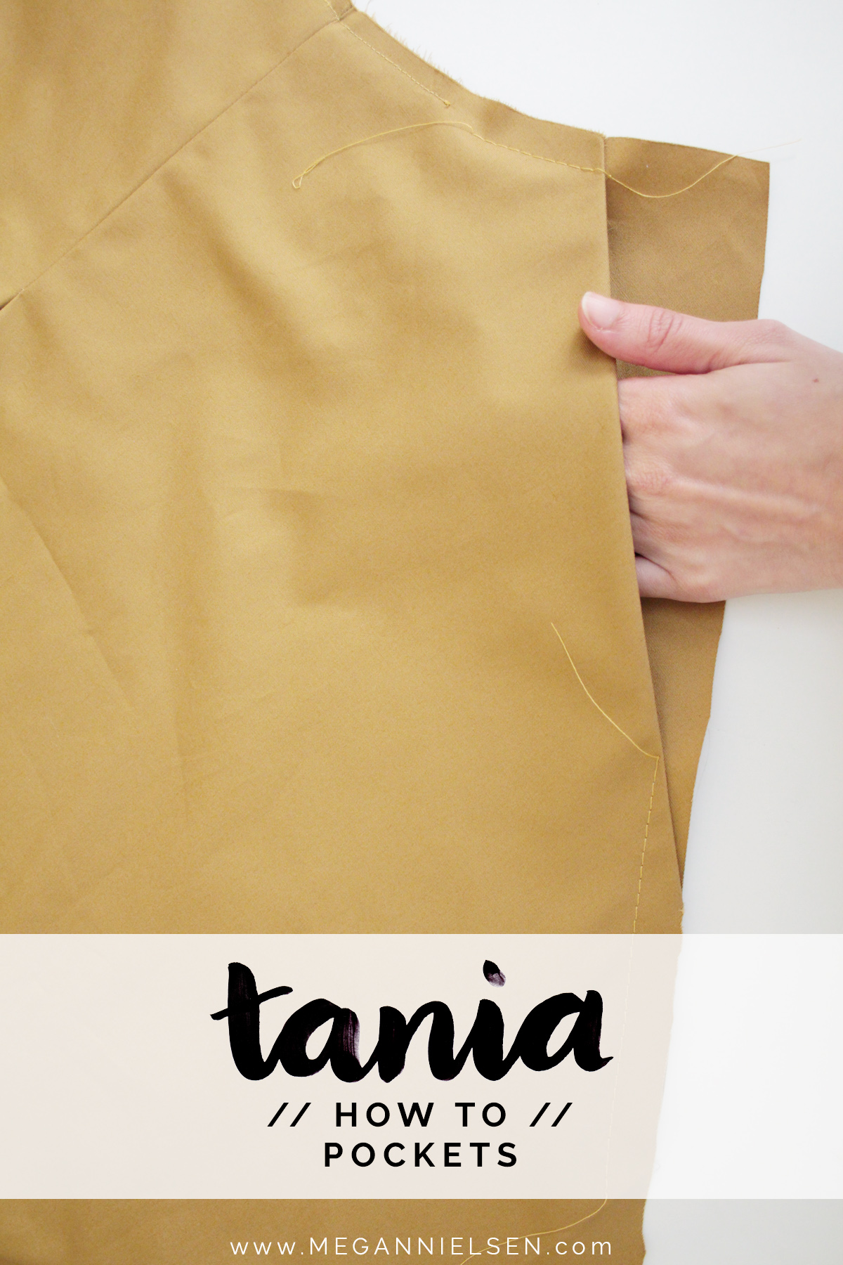 How to attach the pockets on the Tania Culottes by Megan Nielsen Patterns