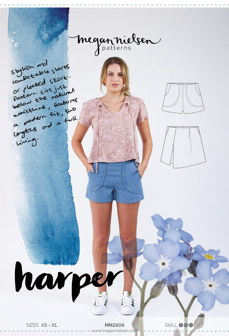 Harper shorts and skort by Megan Nielsen Patterns