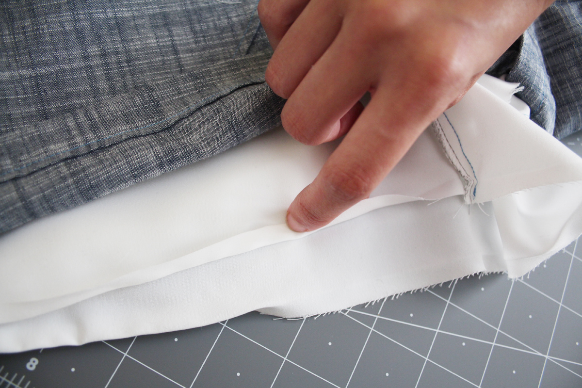 How to hem the Harper shorts and skort by Megan Nielsen Patterns