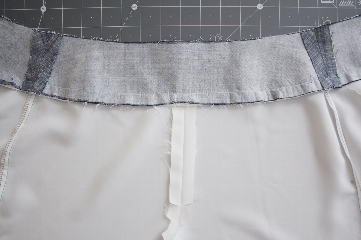 How to sew the facing and lining of the Harper shorts and skort by Megan Nielsen Patterns