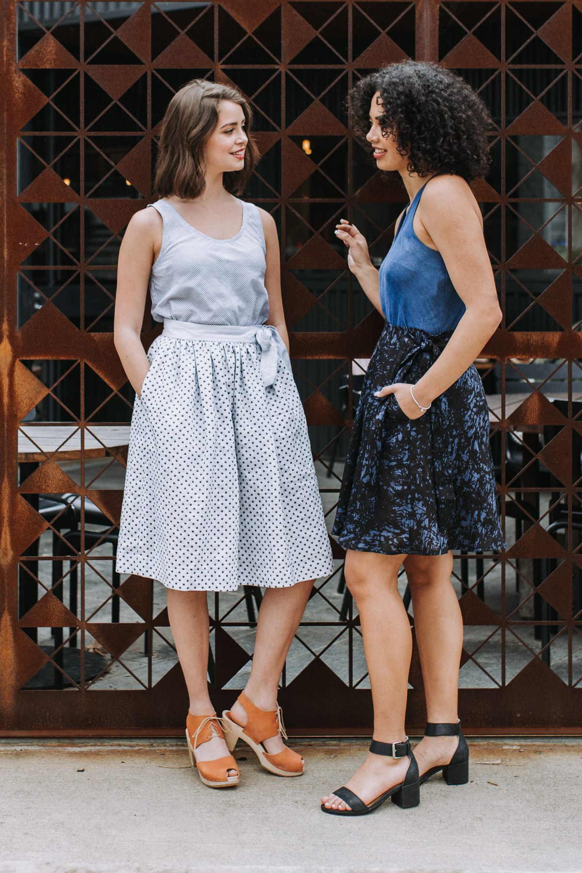 The new Megan Nielsen wardrobe pattern collection // The Dawn rigid jeans pattern set, Jarrah sweater set, Floreat dress & top, Wattle skirt pack
