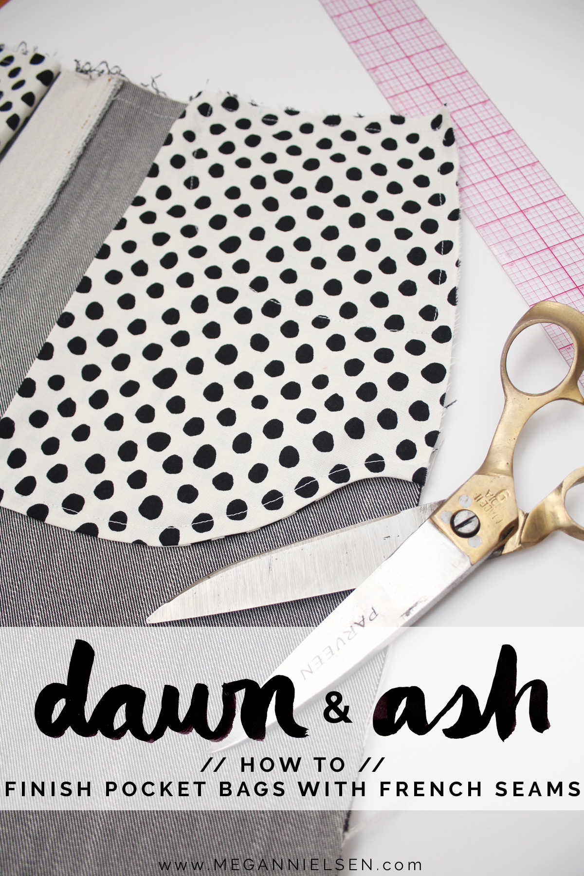 how to finish jeans pocket bags with french seams