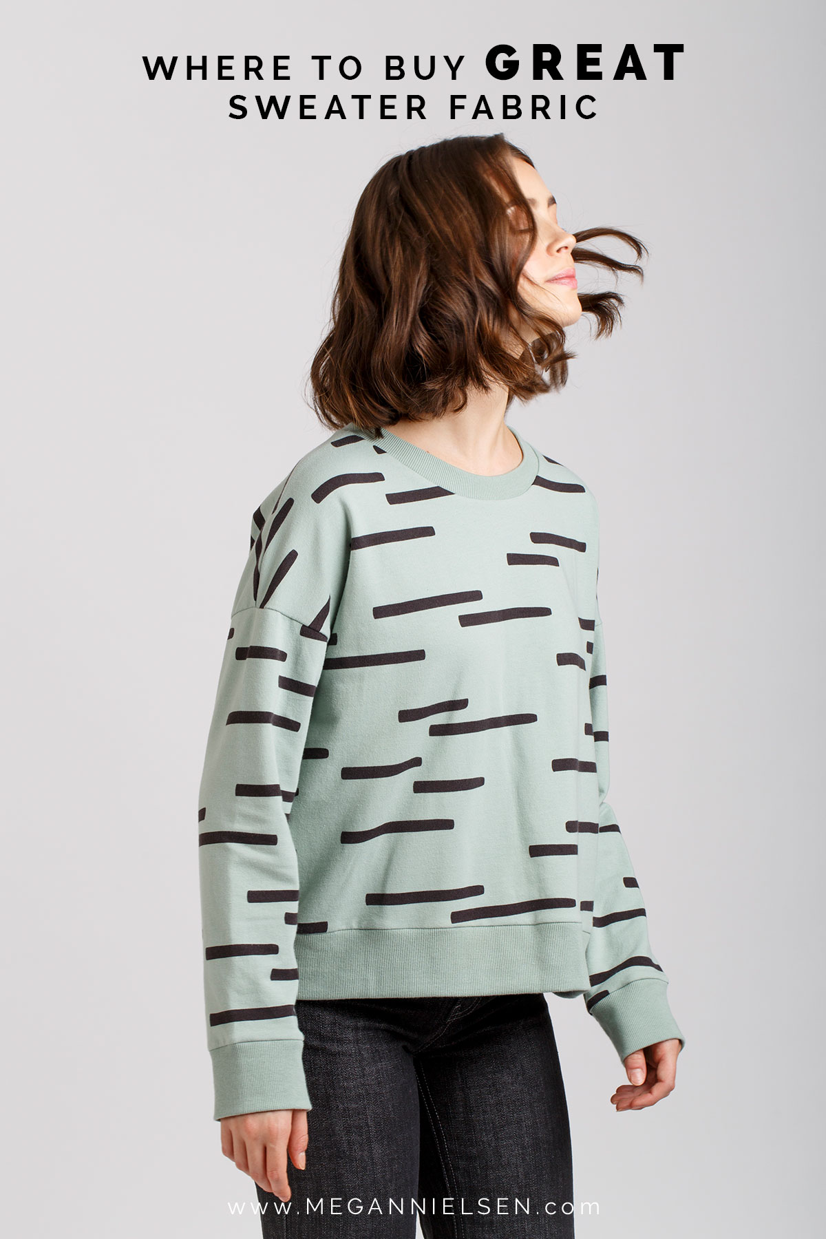 Where to buy great sweater and sweatshirt fabric! Perfect for the Jarrah sweatshirt sewing pattern // Megan Nielsen Design Diary