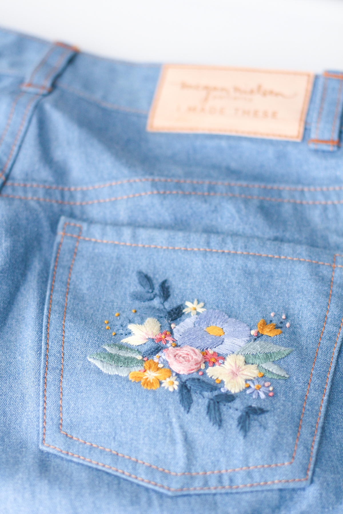 Tips for embroidering jeans // Megan Nielsen Design Diary