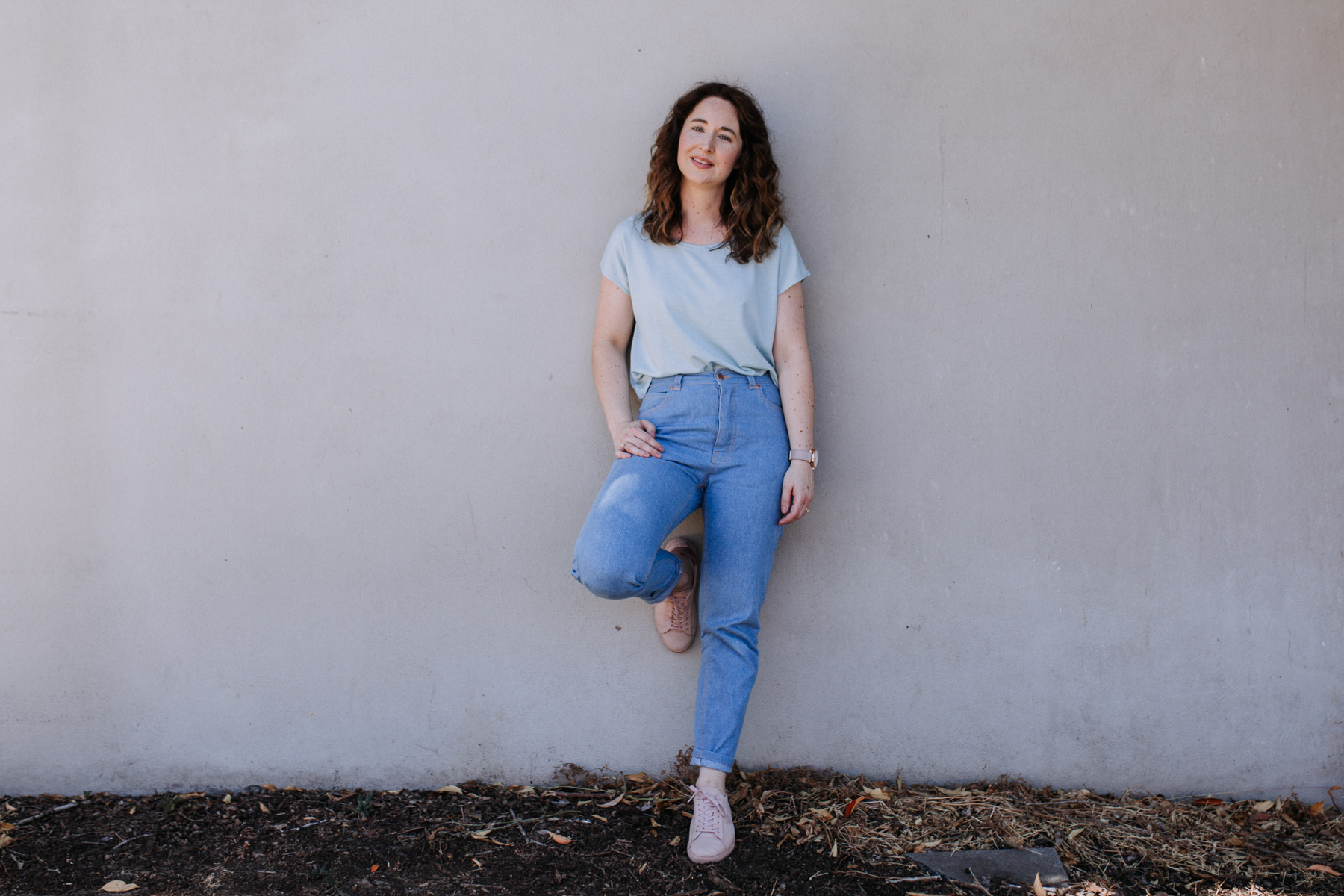 Dawn tapered leg jeans with embroidered back pocket + merino Jarrah tee // Megan Nielsen Design Diary