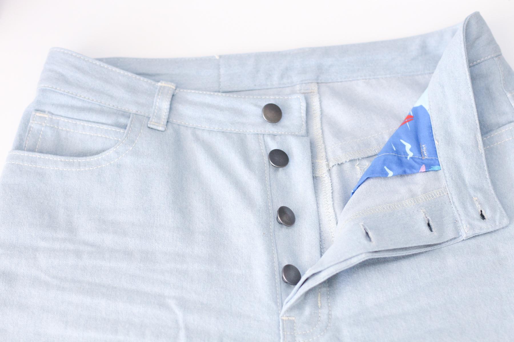 Megan Nielsen wide leg Dawn jeans details