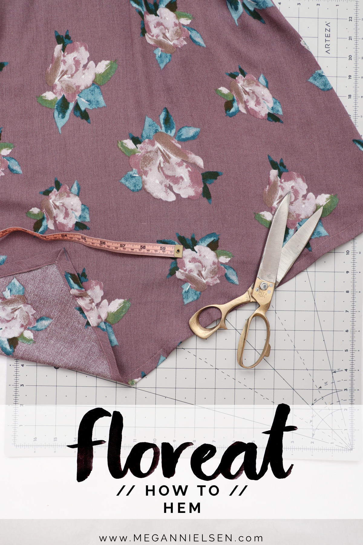how to hem the Floreat dress and blouse by Megan Nielsen Patterns