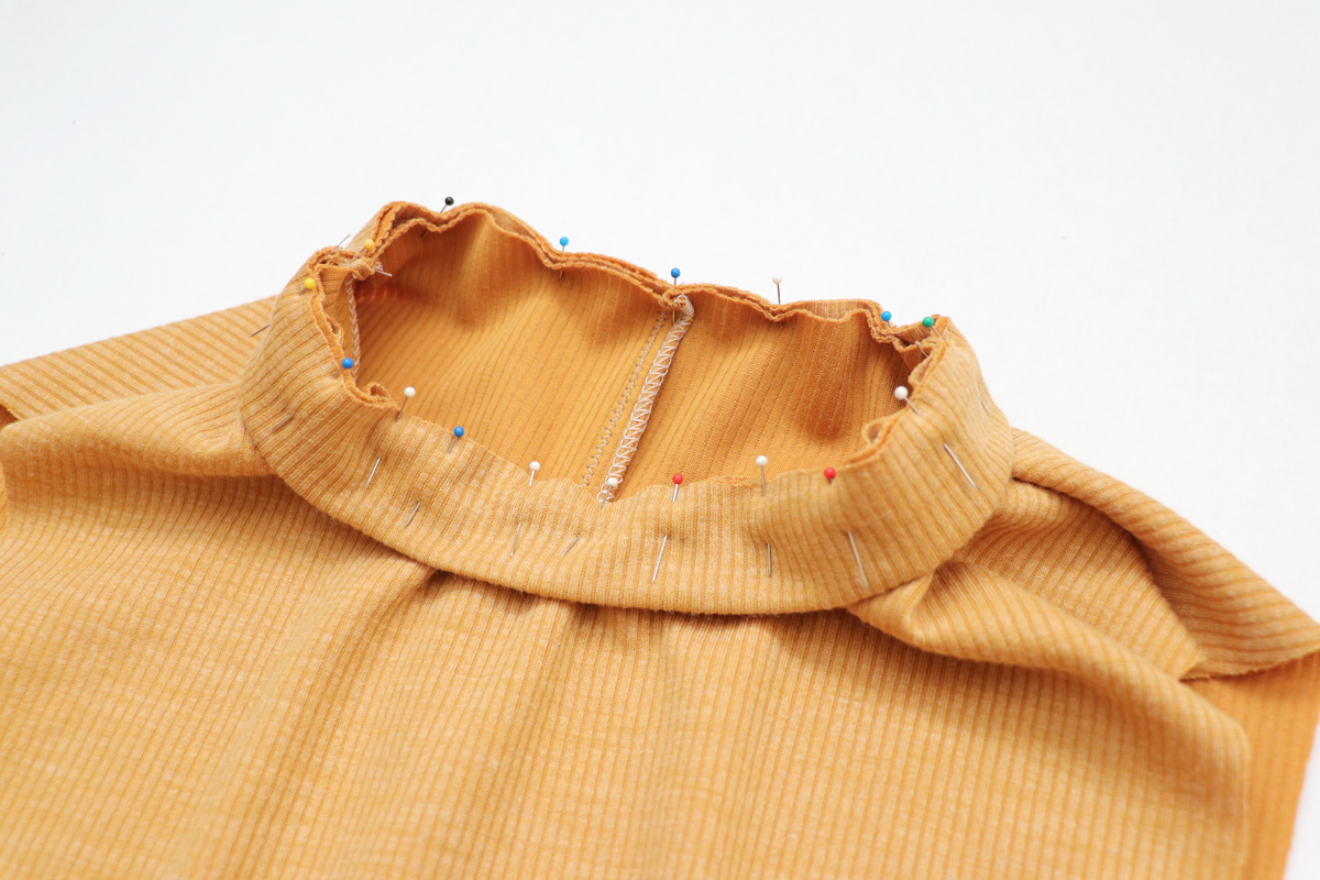 how to sew a knit version of the Floreat dress and blouse by Megan Nielsen Patterns