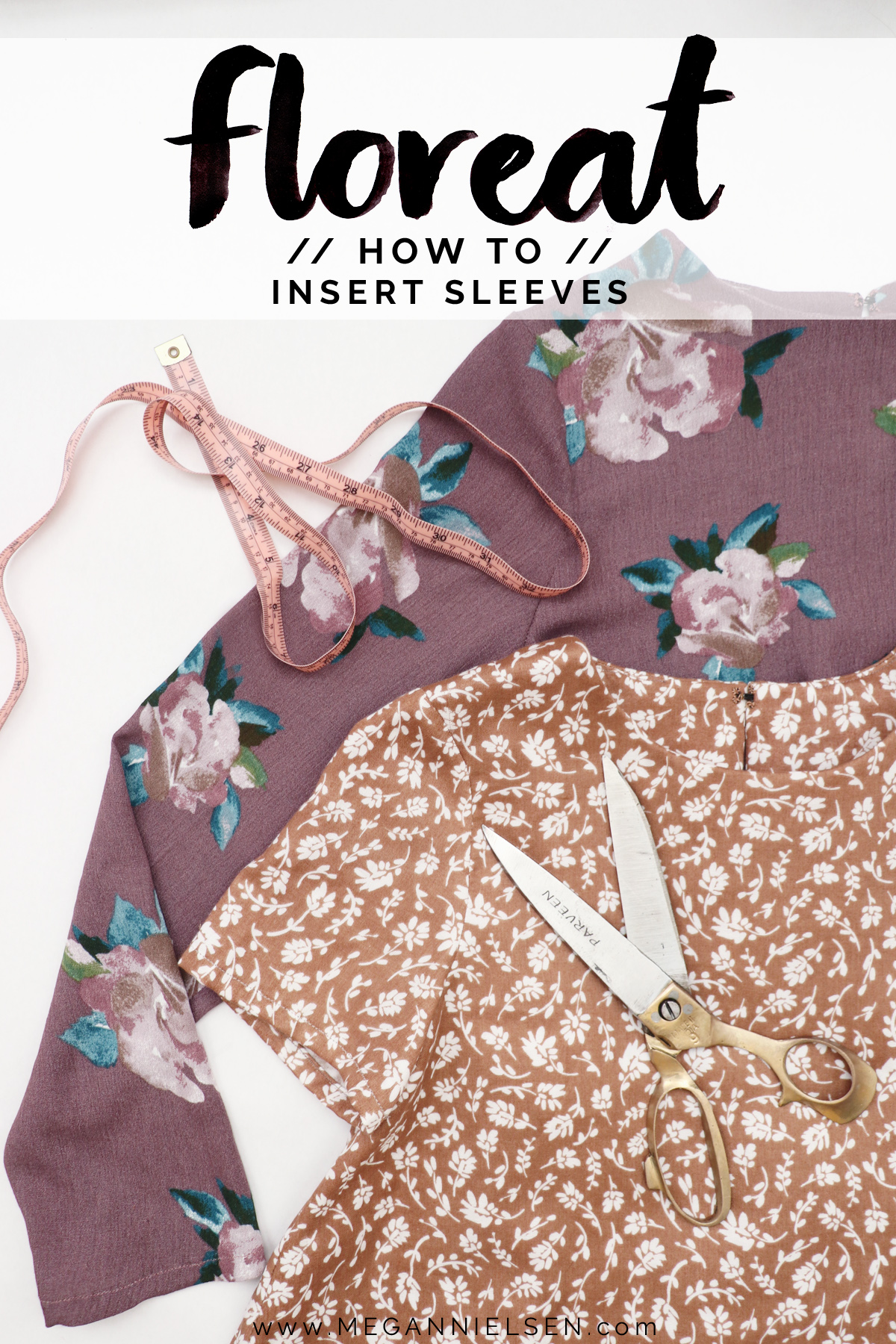 how to sew the sleeves on the Floreat dress and blouse by Megan Nielsen Patterns