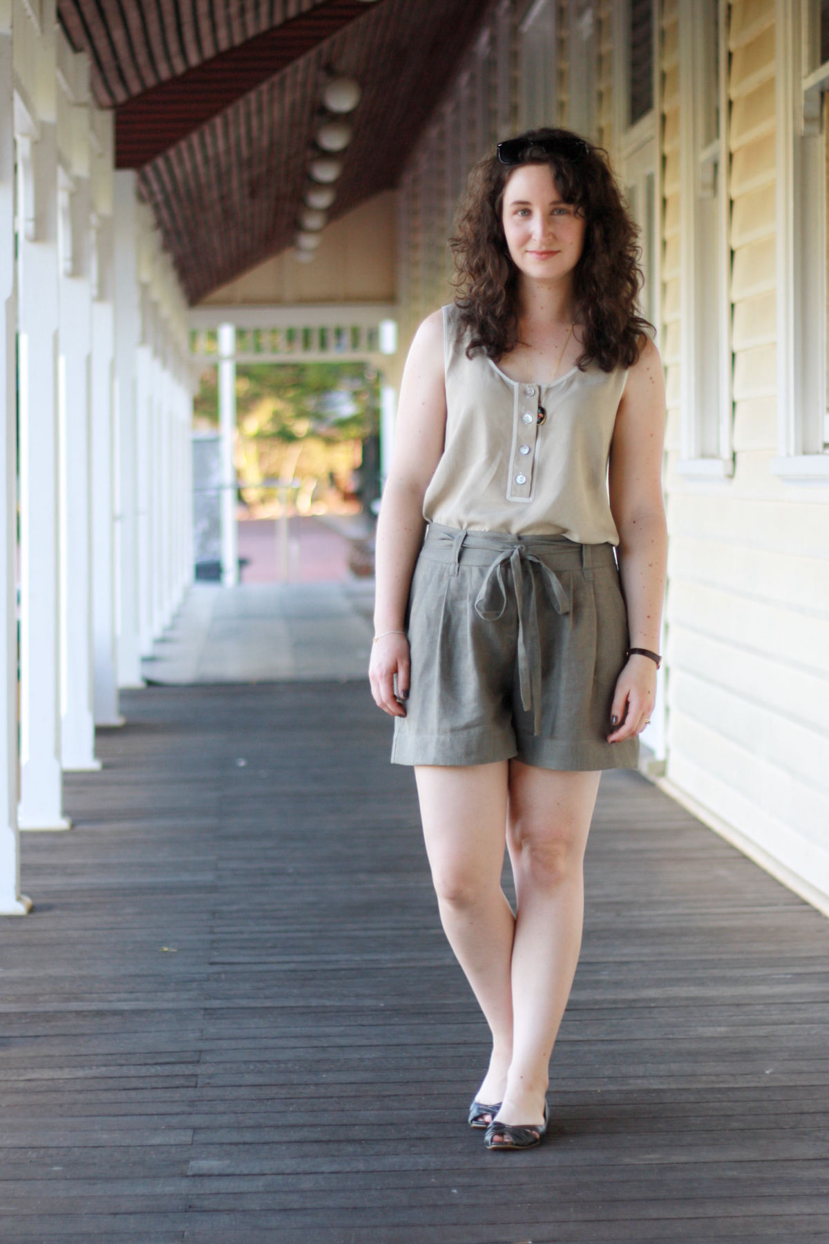 10 most worn makes in 10 years of blogging //Megan Nielsen Eucalypt tank top & Banksia blouse mashup