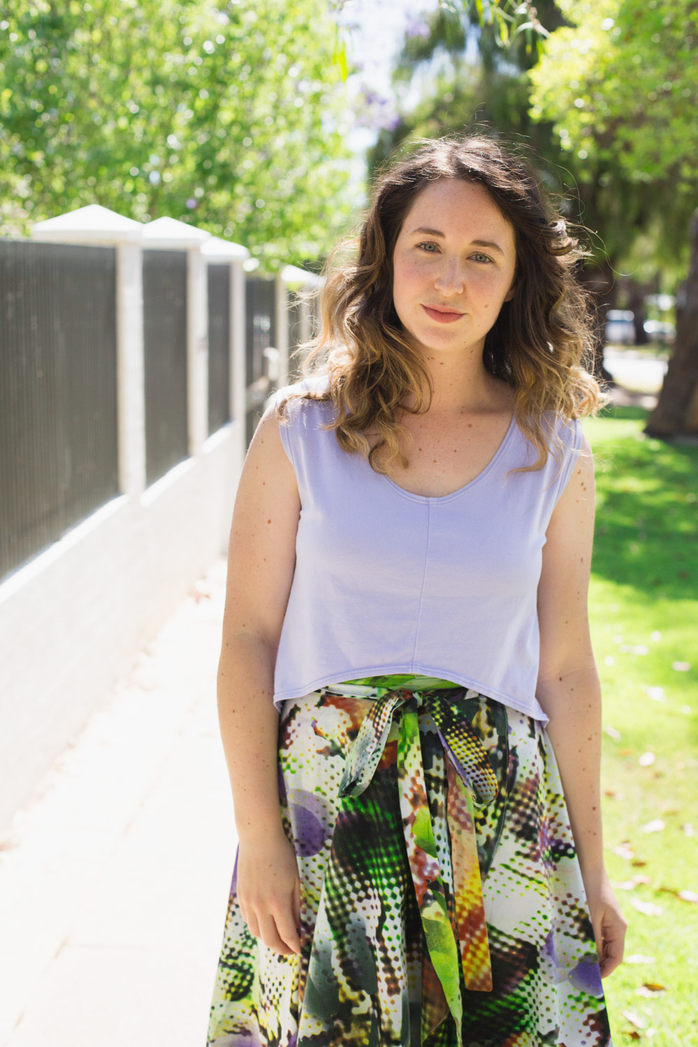 10 most worn makes in 10 years of blogging // Megan Nielsen sleeveless Briar crop top