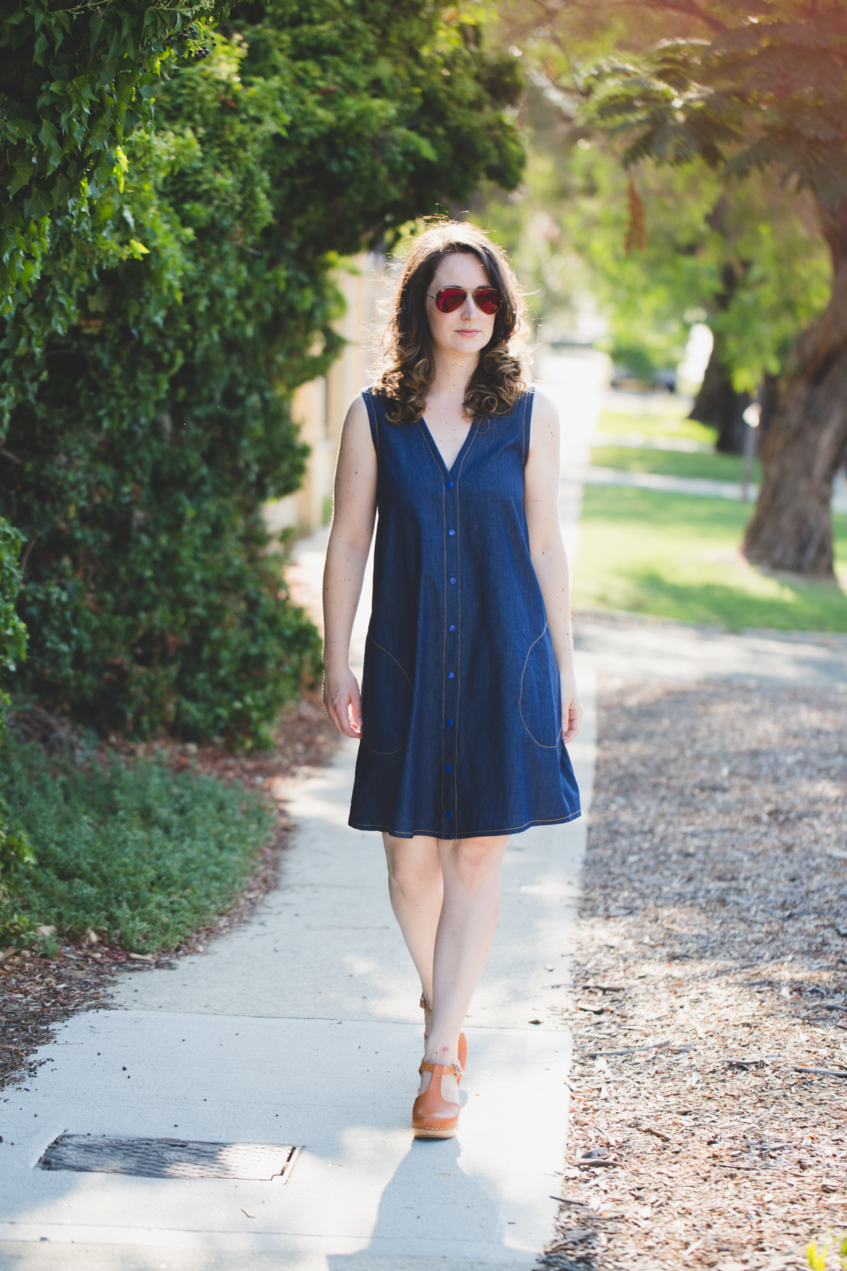 10 most worn makes in 10 years of blogging // Megan Nielsen sleeveless dartless Darling Ranges dress