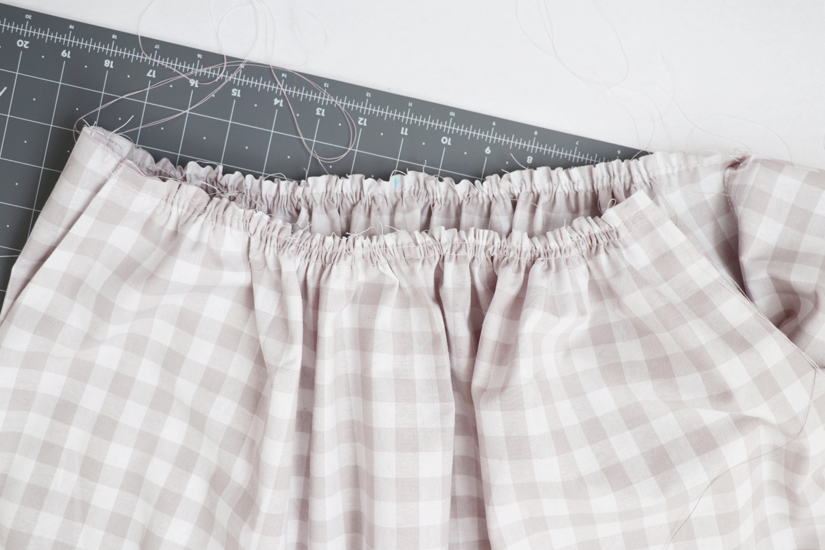 how to sew the gathers on the Wattle skirt by Megan Nielsen Patterns