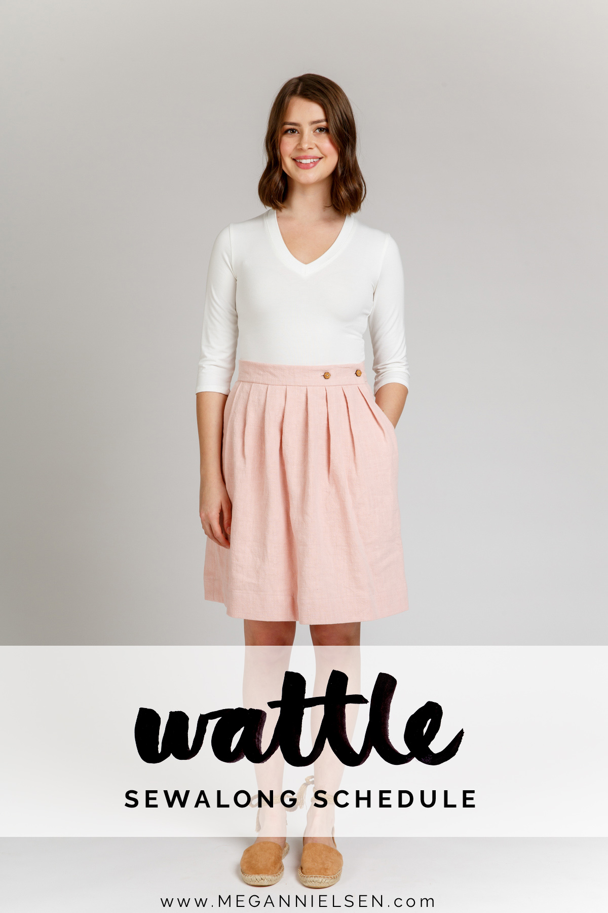 sewalong schedule for the Wattle skirt by Megan Nielsen Patterns